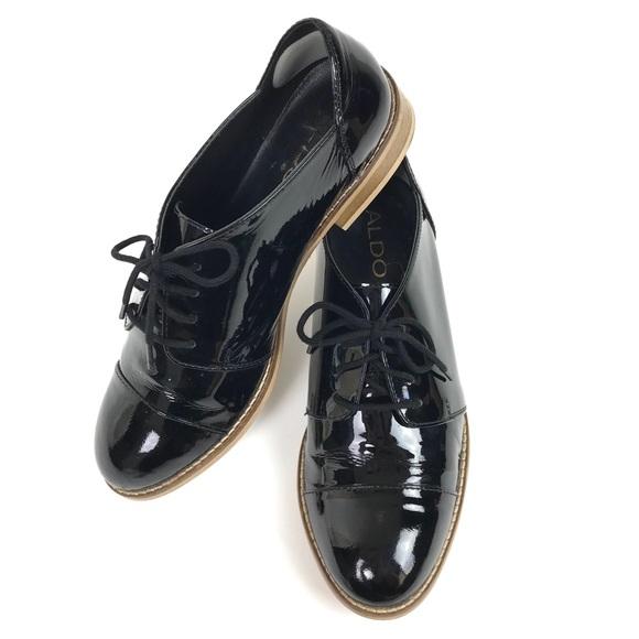 7fd674849d6 Aldo Shoes - Aldo Womens Oxfords Black Patent Leather Lace Up